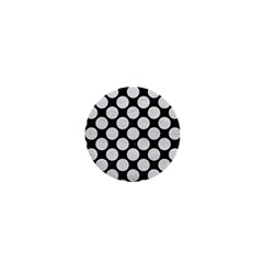 Circles2 Black Marble & White Leather (r) 1  Mini Buttons