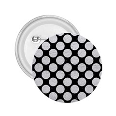 Circles2 Black Marble & White Leather (r) 2 25  Buttons