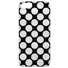 Circles2 Black Marble & White Leather (r) Apple Iphone 5 Classic Hardshell Case