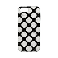 Circles2 Black Marble & White Leather (r) Apple Iphone 5 Classic Hardshell Case (pc+silicone)