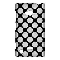 Circles2 Black Marble & White Leather (r) Nokia Lumia 720