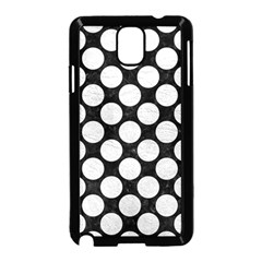 Circles2 Black Marble & White Leather (r) Samsung Galaxy Note 3 Neo Hardshell Case (black)