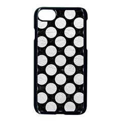 Circles2 Black Marble & White Leather (r) Apple Iphone 8 Seamless Case (black)