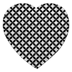 Circles3 Black Marble & White Leather Jigsaw Puzzle (heart)
