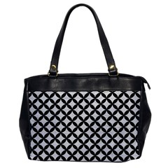 Circles3 Black Marble & White Leather Office Handbags