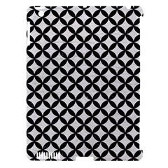 Circles3 Black Marble & White Leather Apple Ipad 3/4 Hardshell Case (compatible With Smart Cover)