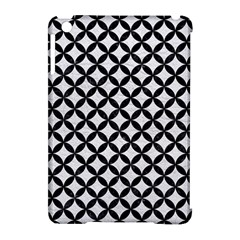 Circles3 Black Marble & White Leather Apple Ipad Mini Hardshell Case (compatible With Smart Cover)