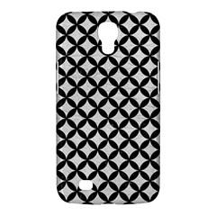 Circles3 Black Marble & White Leather Samsung Galaxy Mega 6 3  I9200 Hardshell Case