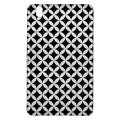 Circles3 Black Marble & White Leather (r) Samsung Galaxy Tab Pro 8 4 Hardshell Case