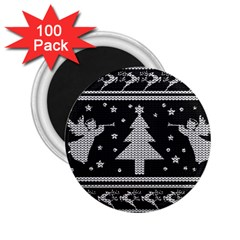 Ugly Christmas Sweater 2 25  Magnets (100 Pack)