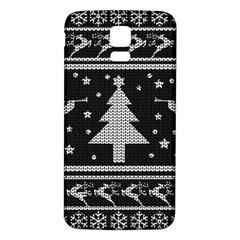 Ugly Christmas Sweater Samsung Galaxy S5 Back Case (white)