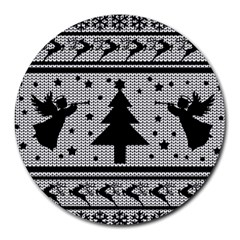 Ugly Christmas Sweater Round Mousepads