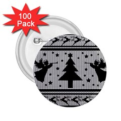 Ugly Christmas Sweater 2 25  Buttons (100 Pack)