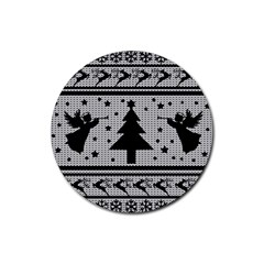 Ugly Christmas Sweater Rubber Round Coaster (4 Pack)