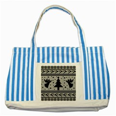 Ugly Christmas Sweater Striped Blue Tote Bag