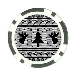 Ugly Christmas Sweater Poker Chip Card Guard