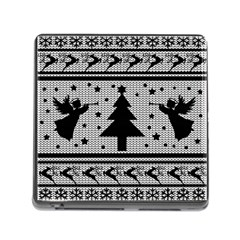 Ugly Christmas Sweater Memory Card Reader (square)