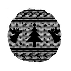 Ugly Christmas Sweater Standard 15  Premium Round Cushions