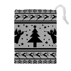 Ugly Christmas Sweater Drawstring Pouches (extra Large)