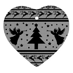Ugly Christmas Sweater Ornament (heart)