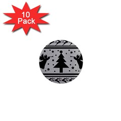 Ugly Christmas Sweater 1  Mini Magnet (10 Pack)