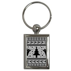 Ugly Christmas Sweater Key Chains (rectangle)