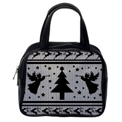 Ugly Christmas Sweater Classic Handbags (one Side)