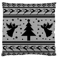 Ugly Christmas Sweater Large Flano Cushion Case (two Sides)
