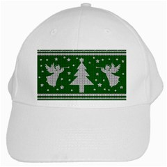 Ugly Christmas Sweater White Cap