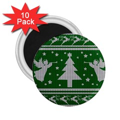Ugly Christmas Sweater 2 25  Magnets (10 Pack)