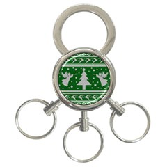 Ugly Christmas Sweater 3 Ring Key Chains
