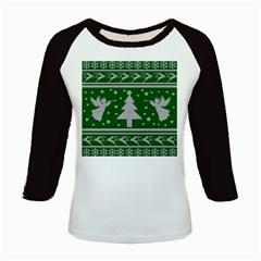 Ugly Christmas Sweater Kids Baseball Jerseys