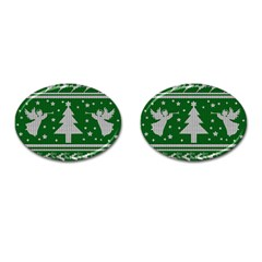 Ugly Christmas Sweater Cufflinks (oval)