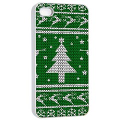 Ugly Christmas Sweater Apple Iphone 4/4s Seamless Case (white)