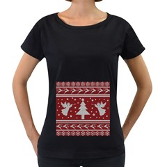 Ugly Christmas Sweater Women s Loose Fit T Shirt (black)