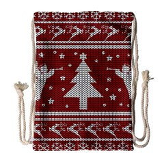 Ugly Christmas Sweater Drawstring Bag (large)