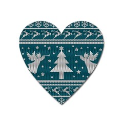 Ugly Christmas Sweater Heart Magnet