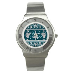Ugly Christmas Sweater Stainless Steel Watch