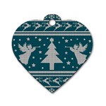 Ugly Christmas Sweater Dog Tag Heart (One Side) Front