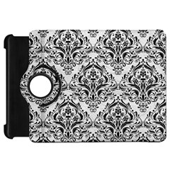 Damask1 Black Marble & White Leather Kindle Fire Hd 7
