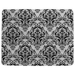 Damask1 Black Marble & White Leather Jigsaw Puzzle Photo Stand (rectangular)