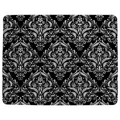 Damask1 Black Marble & White Leather (r) Jigsaw Puzzle Photo Stand (rectangular)