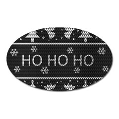Ugly Christmas Sweater Oval Magnet