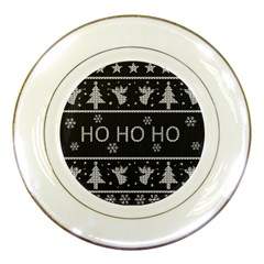 Ugly Christmas Sweater Porcelain Plates