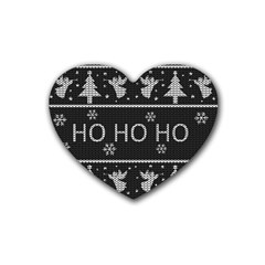 Ugly Christmas Sweater Heart Coaster (4 Pack)