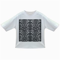 Damask2 Black Marble & White Leather Infant/toddler T Shirts