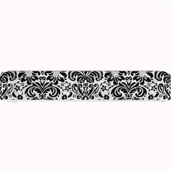 Damask2 Black Marble & White Leather Small Bar Mats