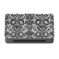Damask2 Black Marble & White Leather Memory Card Reader With Cf