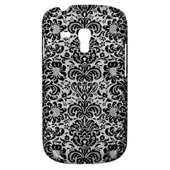 Damask2 Black Marble & White Leather Galaxy S3 Mini