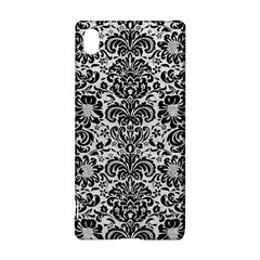 Damask2 Black Marble & White Leather Sony Xperia Z3+